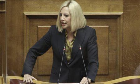 Φώφη Γεννηματά: «Καταψηφίζουμε τον προϋπολογισμό. Οδηγεί σε οπισθοδρόμηση και νέα αδιέξοδα»
