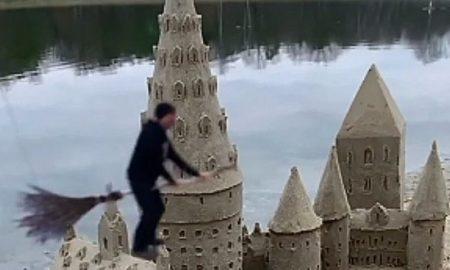 Χάρι Πότερ: Το διάσημο κάστρο του χτισμένο στην άμμο από έναν καλλιτέχνη