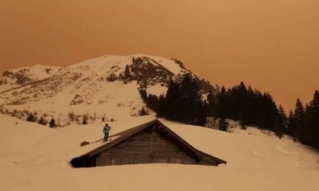 Αφρικανική σκόνη: Οι Άλπεις βάφτηκαν χρυσές
