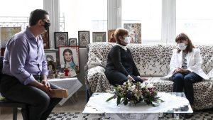 Σακελλαροπούλου: Η συνάντηση της με τους γονείς της Ελένης Τοπαλούδη στο Διδυμότειχο